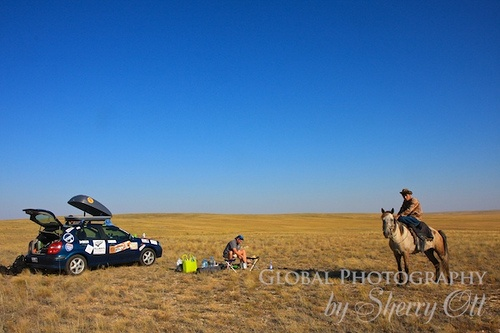 Camping in Kazakhstan on the Mongol Rally Photo: Sherry Ott
