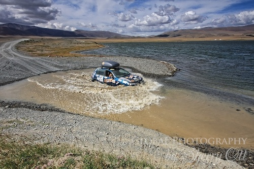 River crossing in Mongolia on the Mongol Rally Photo: Sherry Ott