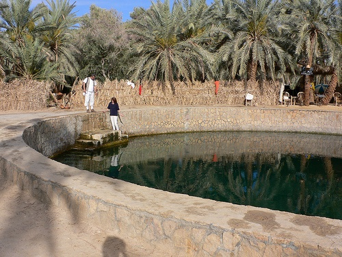 Cleopatra's spring in Siwa, Egypt Photo: Heatheronhertravels