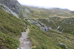 The trail from La Flegere
