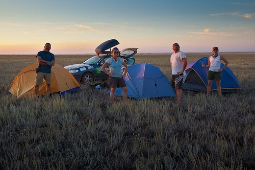 The Social Media Syndicate camping in Mongolia Photo: Sherry Ott