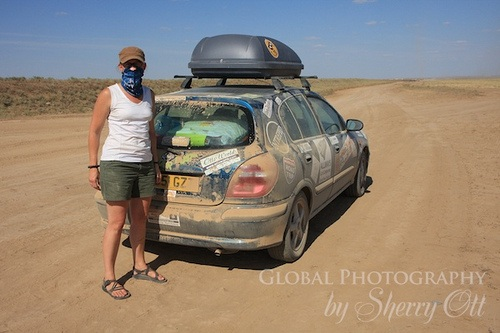Kazakhstan dirt roads on the Mongol Rally Photo: Sherry Ott