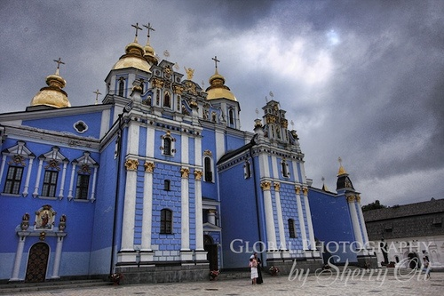 Kiev Ukraine Church on the Mongol Rally Photo: Sherry Ott