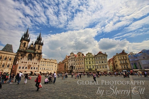 Visiting Prague on the Mongol Rally Photo: Sherry Ott