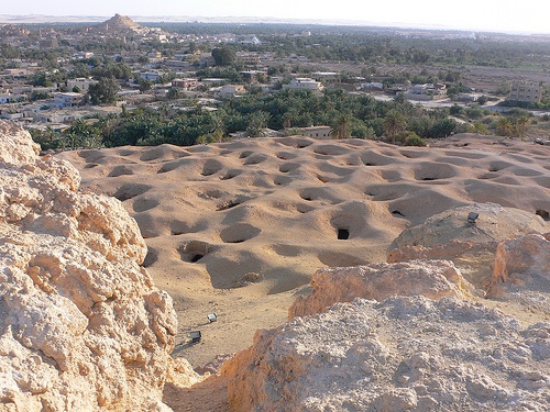 Gebel Al Mawta or the Mountain of the dead in Siwa, Egypt Photo: Heatheronhertravels.com
