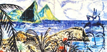 Mural painting of German artist Stefan Szczesny