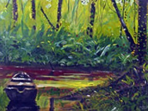 A painting by Guyanese painter Ron Savory