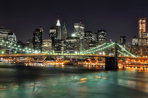 Manhattan Bridge in New York Photo: andrew c mace of Flickr