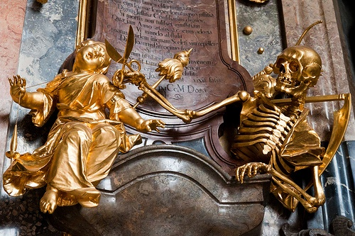 Macabre at Asamkirche in Munich Photo: theqspeaks of Flickr