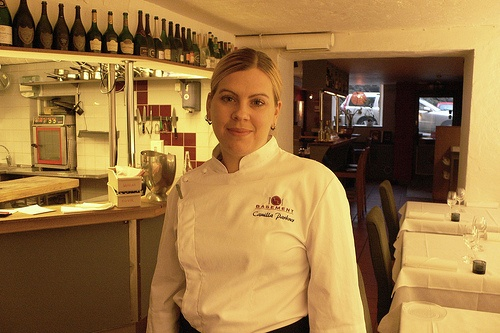Camilla Parkner, Head Chef at Basement in Gothenburg Photo: Heatheronhertravels.com