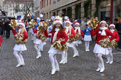 Christmas marching band in Haga, Gothenburg Photo: Heatheronhertravels.com
