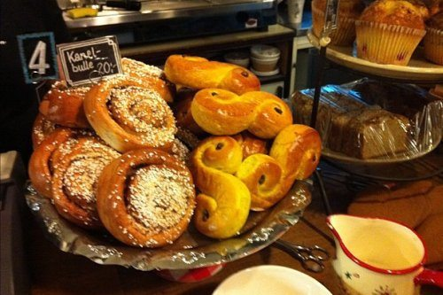 Fika time - Saffron Christmas buns at Cafe Kronhuset in  Gothenburg Photo: Heatheronhertravels.com
