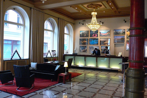 Reception at Hotel Elite Plaza hotel, Gothenburg, Sweden Photo: Heatheronhertravels