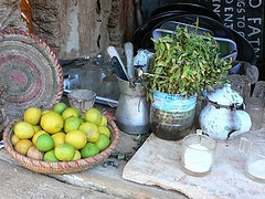 Mint tea at Fatnas island in Siwa in Egypt Photo: Heatheronhertravels.com