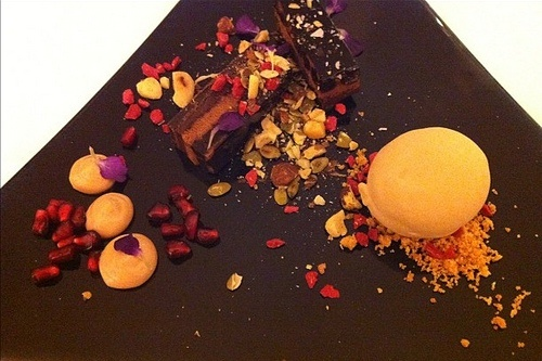 So pretty - death by chocolate with nuts & violet Photo: Heatheronhertravels.com