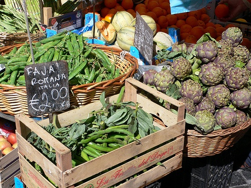 Vegetables in the market at Campo d'Fiori, Rome Photo: Heatheronhertravels.com