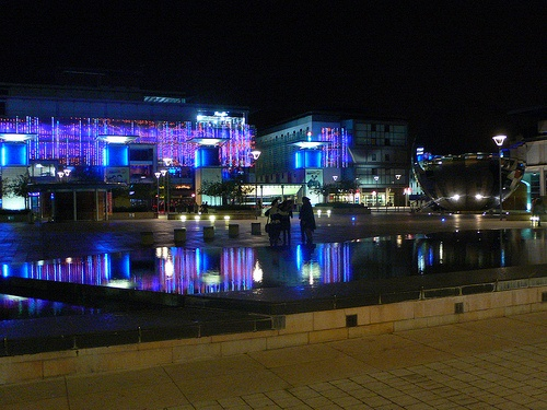 Millenium square in Bristol at night Photo: Heatheronhertravels.com