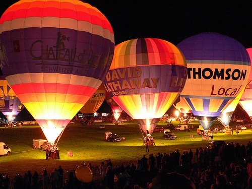 Night Glow at Bristol Ballon Fiesta Photo: Heatheronhertravels.com