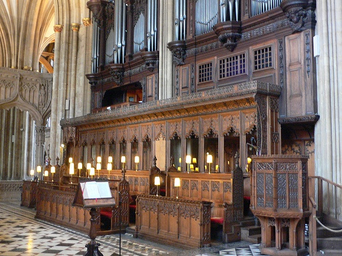 The choir stalls at Bristol Cathedral Photo: Heatheronhertravels.com