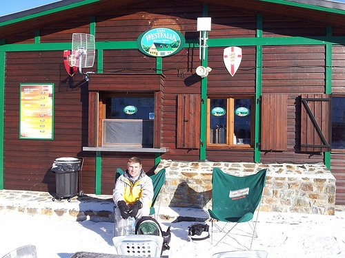 Cafe on the slopes in Pas de la Casa, Andorra Photo: Heatheronhertravels.com