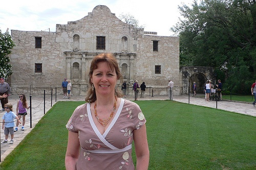 At the Alamo in San Antonio Photo: Heatheronhertravels.com