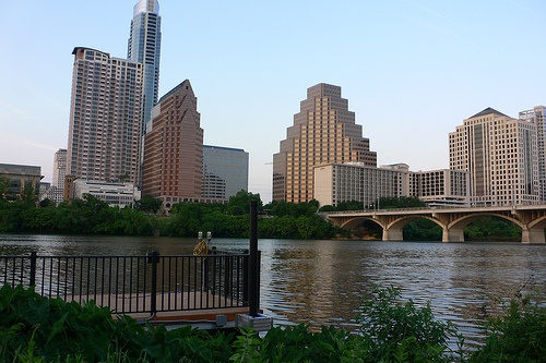 Austin Downtown from the river Photo: Heatheronhertravels.com
