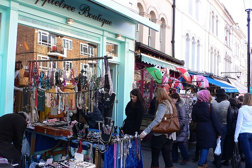 Portobello Market in London Photo: Heatheronhertravels.com