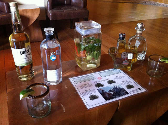 Tequila tasting at Cibolo Moon Bar, JW Marriott San Antonio Hill Country Resort Photo: Heatheronhertravels.com