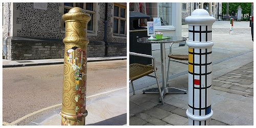 Painted Bollards in Winchester Photo: Heatheronhertravels.com