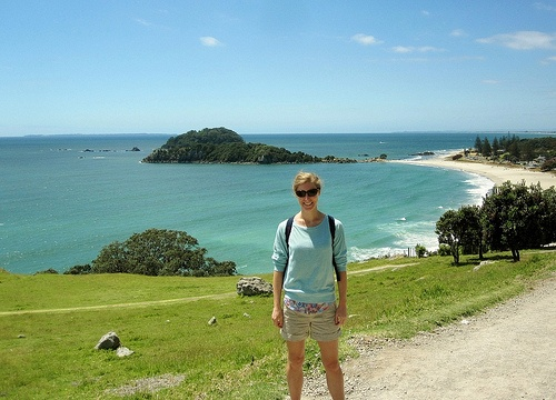 Allison stops at Mount Maunganui, New Zealand Photo by Allison Mac published on Heatheronhertravels.com