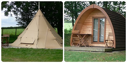 Tipi and camping pod at Woodovis Park, Devon Photo: Heatheronhertravels.com