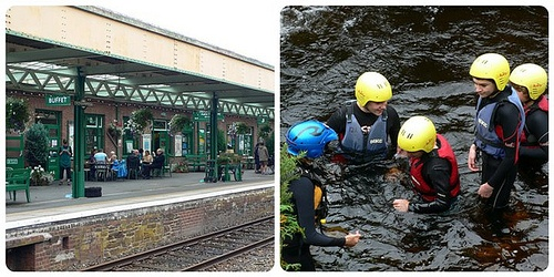 Oakhampton station in Devon and Gorge Scrambling with Adventure Okehampton Photo: Heatheronhertravels.com
