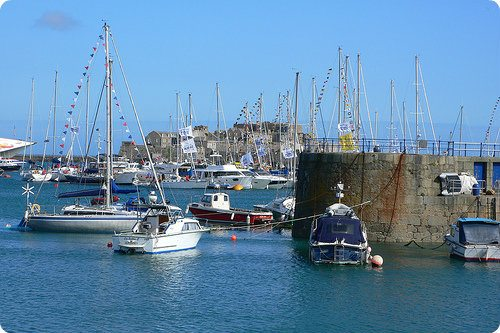 Boats in the harbour at St Peter Port Photo: Heatheronhertravels.com