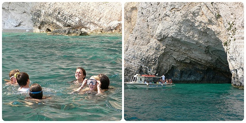Swimming at Keri Caves on Zante Photo: Heatheronhertravels.com