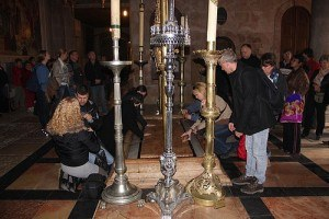 Stone of Annointing in the Church of the Holy Sepulchre, Jerusalem