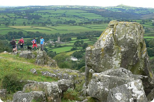 Walking on Dartmoor above Peter Tavy Photo: Heatheronhertravels.com