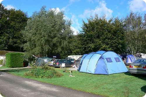 Camping at Woodovis Park, near Tavistock, Devon Photo: Heatheronhertravels.com