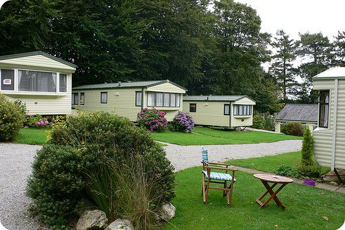Mobile homes at Woodovis Park, near Tavistock, Devon Photo: Heatheronhertravels.com