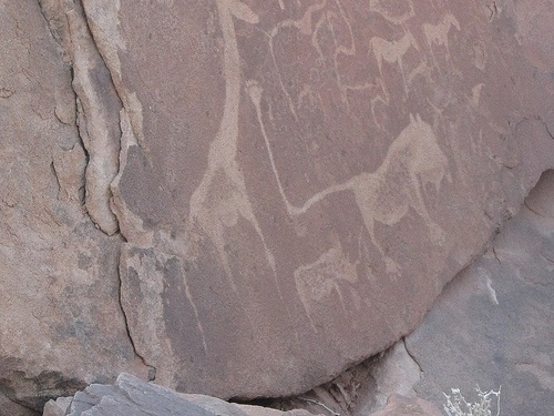 Cave Paintings in Twyfelfontain, Namibia Photo: Guy Cowper at Heatheronhertravels.com