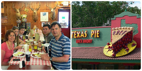 Left: Black's BBQ in Lockhart Right: Texas Pie Company, Kyle Photo: Heatheronhertravels.com