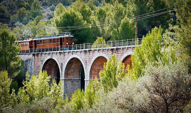 Tren de Soller in Mallorca Photo: Bibigeek on Flickr