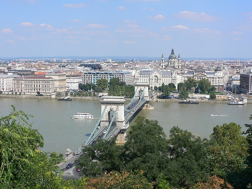 View of the Chain bridge in Budapest Photo:Heatheronhertravels.com
