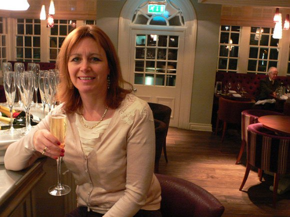 Champagne bar at Waterside Brasserie, Arden Hotel, Stratford-upon-Avon Photo: Heatheronhertravels.com