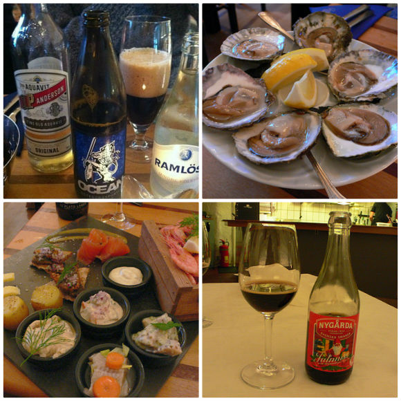 Snaps or Julmust with your herring and oysters in Sweden Photo: Heatheronhertravels.com