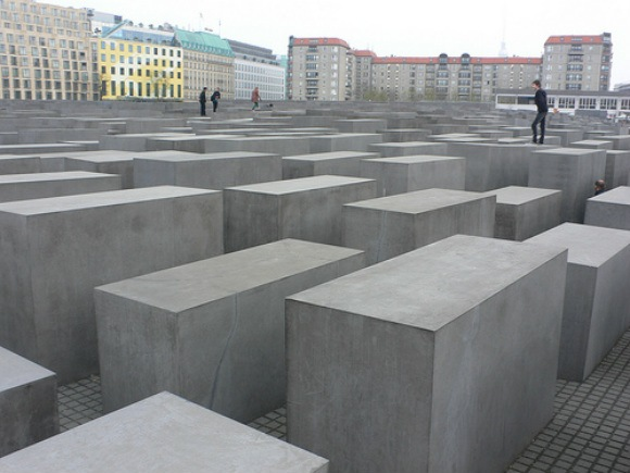 At the Holocaust memorial in Berlin Photo: Heatheronhertravels.com