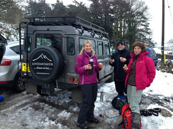 At the end of of our walk with Elaine from LoveDartmoor.com Photo: Heatheronhertravels.com
