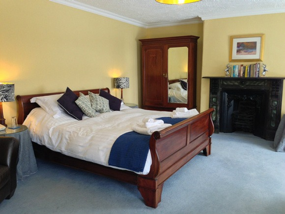 Houndstor bedroom at Prince Hall Hotel, Dartmoor, Devon Photo: Heatheronhertravels.com