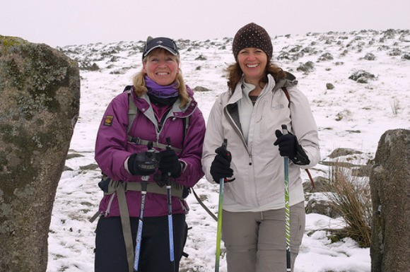 Nordic Walking on Dartmoor with Elaine Sylvester from LoveDartmoor.com Photo: Heatheronhertravels.com