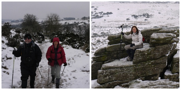 Nordic Walking on Dartmoor with Elaine from LoveDartmoor.com Photo: Heatheronhertravels.com