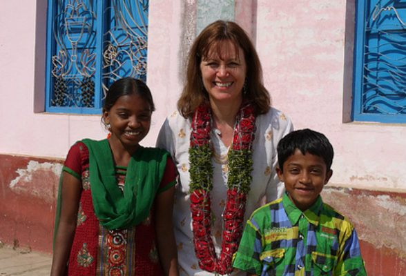 Meeting my sponsor child in India Photo: Heatheronhertravels.com